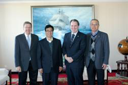 Three Leaders of Canada University of Manitoba Medical Visited Hebei University