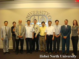Professor Zhong Guangming From American UTHSCSA and Dr. Fan Huizhou From Rutgers University were Invited To HBNU For Academic Exchange Activities.